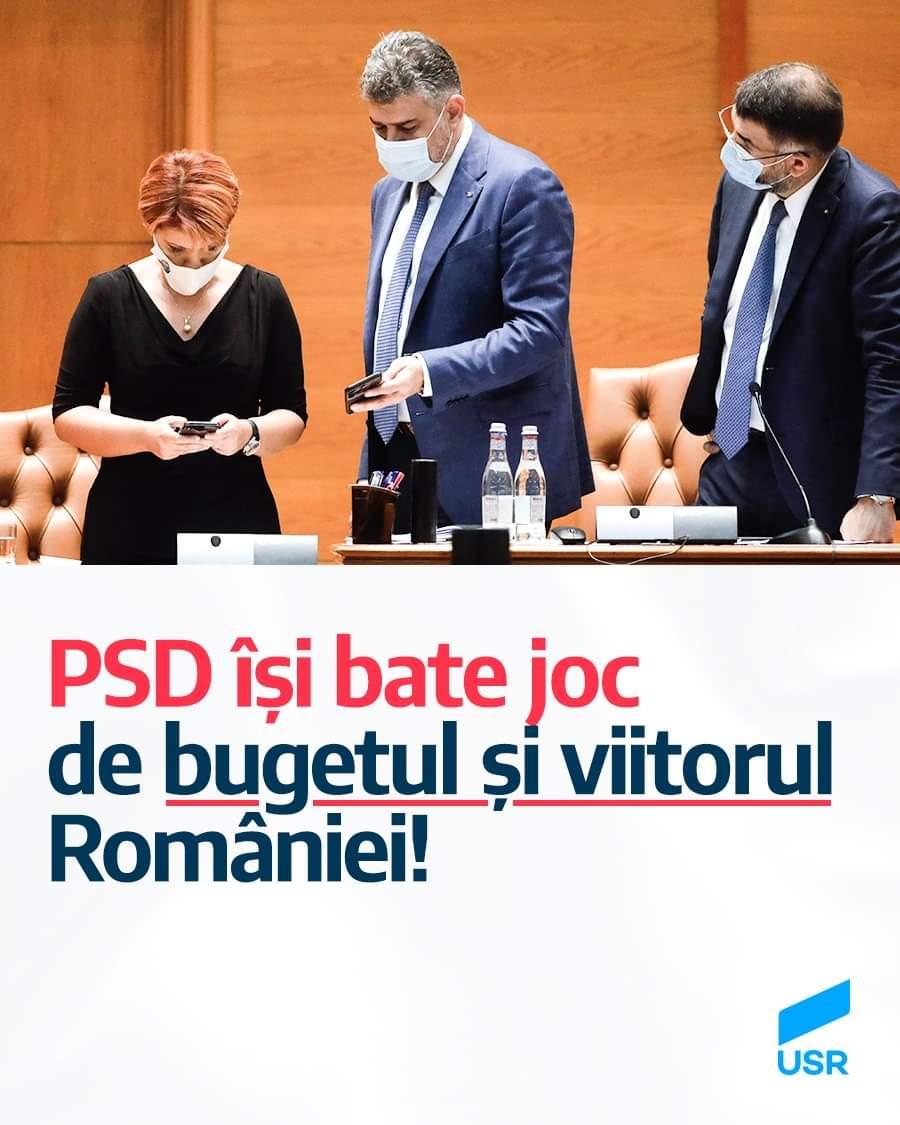 PSD își bate joc de bugetul și viitorul României