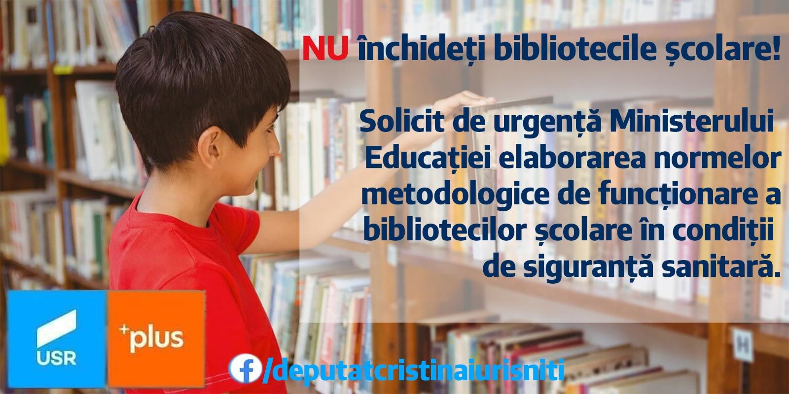 NU închideți bibliotecile școlare! Dreptul constituțional la informare și educație al copiilor noștri precum  și drepturile bibliotecarilor școlari nu pot fi încălcate de Ministerul Educației